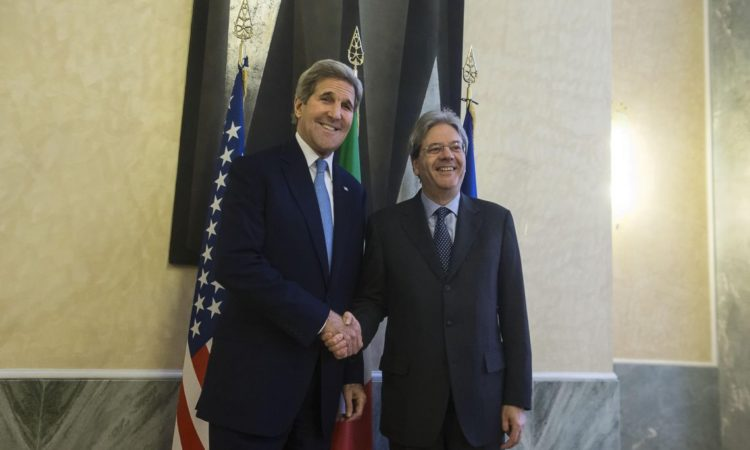 Kerry and Gentiloni