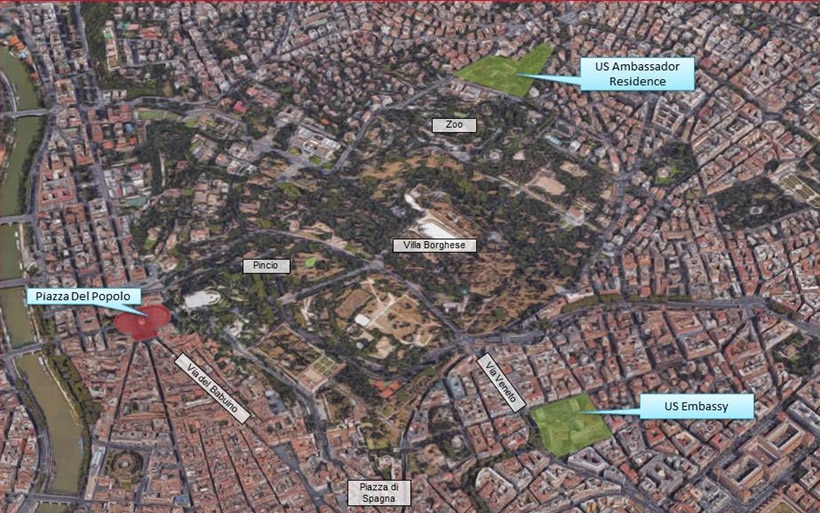 October Security Message For US Citizens Demonstration - Maps of us and rome