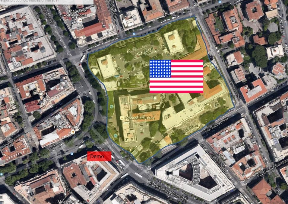 Security Message For US Citizens Demonstrations In Rome Italy - Maps of us and rome