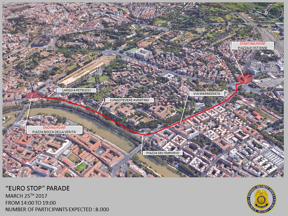 Security Message For US Citizens Upcoming Demonstrations - Maps of us and rome