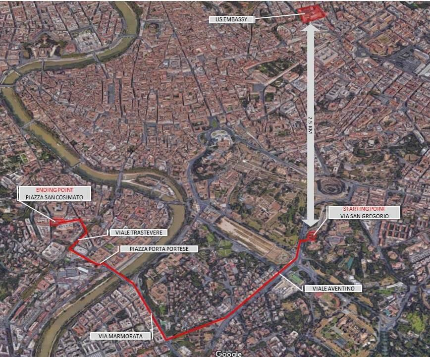 Security Message For US Citizens Demonstrations In Rome On - Embassy of us in florence google map